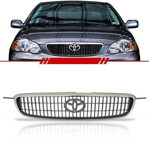Grade Dianteira Corolla e Fielder SEG 2003 2004 2005 2006 2007 Moldura Cromada