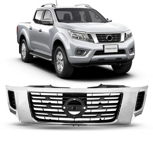 Grade Dianteira Nissan Frontier 2017 2018 Cromada