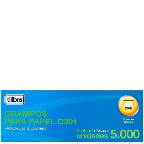 Grampo 26/6 2 a 20Fls Galvanizado 5000 Un - Tilibra