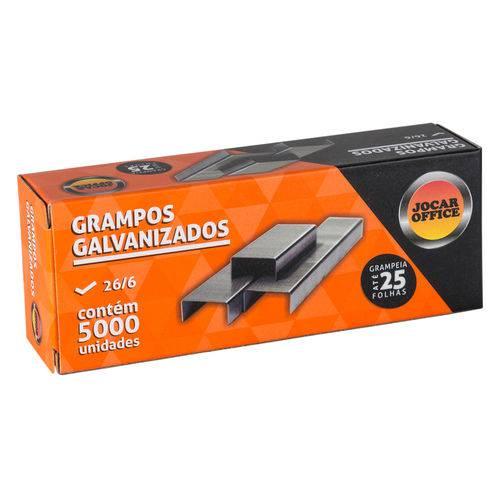 Grampo 26/6 Galvanizado Caixa com 5000 Unidades Jocar Office 93010