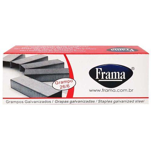 Grampo 26/6 Galvanizado Frama 5000 Unidades 1011202