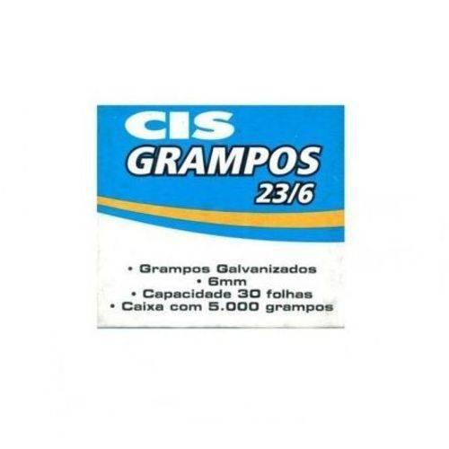 Grampo Cis Galvanizado 23/6 C/ 5.000 Unidades