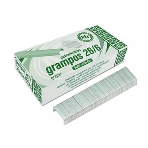 Grampo Galvanizado 26/6 com 5000 Unidades Acc 9.24.13.24-0