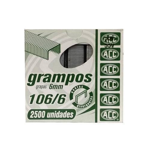 Grampo Grampeador 106/6 Galvanizado - Acc