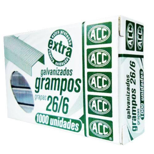 Grampo P/ Grampeador Acc Galvanizado 26/6 1000 Un