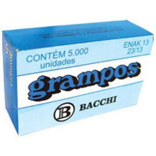 Grampo para Grampeador 23/13 Galvanizado 5000 Grampos Bacchi Caixa