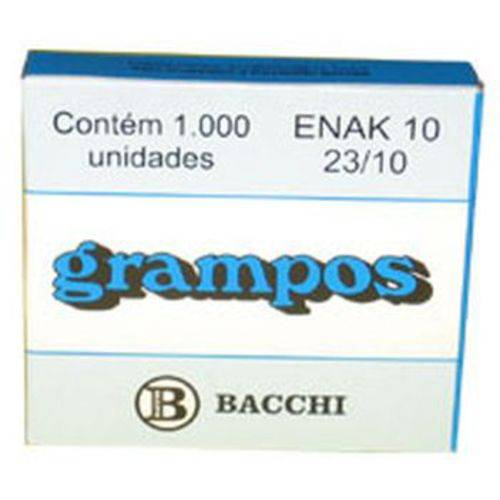 Grampo para Grampeador 23/10 Galvanizado 1000 Grampos Bacchi Caixa