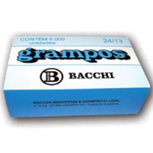 Grampo para Grampeador 24/13 Galvanizado 5000 Grampos Bacchi Caixa