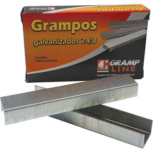 Grampo para Grampeador 24/8 Galvanizado 1000 Grampos