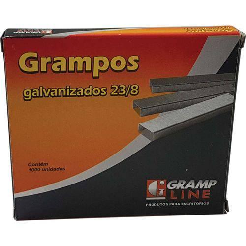 Grampo para Grampeador 23/8 Galvanizado 1000 Grampos Gramp Line Caixa