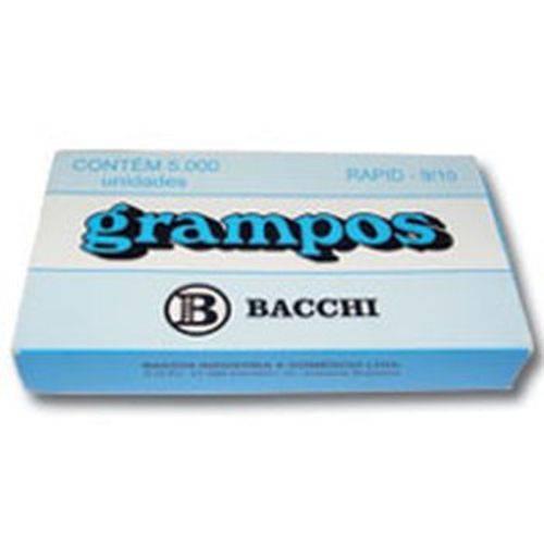 Grampo para Grampeador 9/10 Galvanizado 5000 Grampos Bacchi Caixa