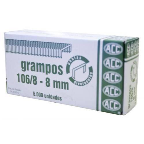 Grampo Rocama 106/8 Galvanizado 5000 Grampos Acc