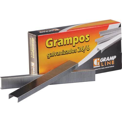 Grampos 26/6 Galvanizado Cxc/5000 Gramp Line