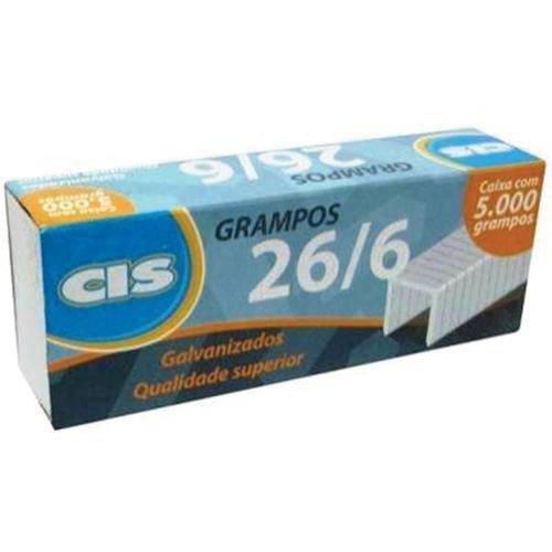 Grampos 26/8 Galvanizado Cx.C/5000 Sertic