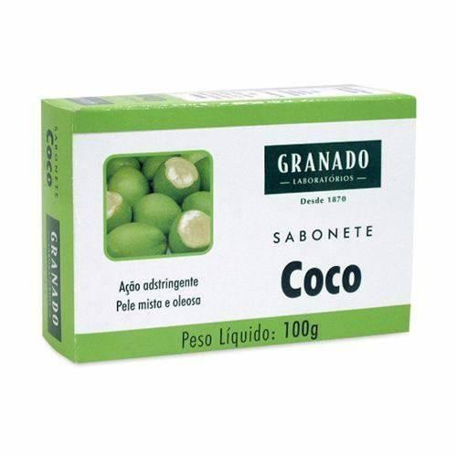 Granado Pele Oleosa Sabonete Coco 100g (kit C/06)