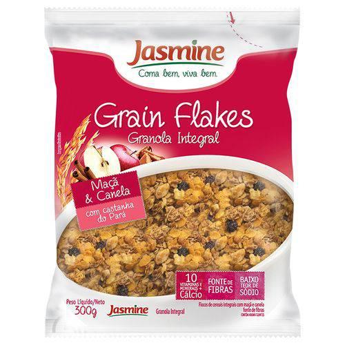 Granola em Flocos Integrais MAÇÃ e CANELA - Jasmine - 300g