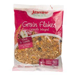 Granola Grain Flakes Integral Maçã e Canela Jasmine 300g