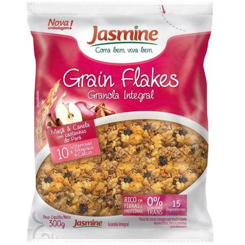 Granola Integral Grain Flakes Maçã e Canela 300g - Jasmine