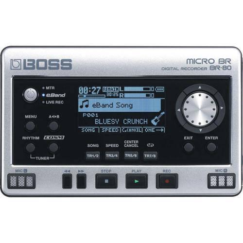 Gravador Digital 64 Pistas Virtuais (V-Tracks) e 8 Pistas de Playback Simultânea Br80 - Boss