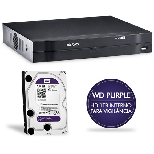 Gravador Digital de Vídeo 08 Canais com HD 1TB Multi-HD MHDX1008 Intelbras