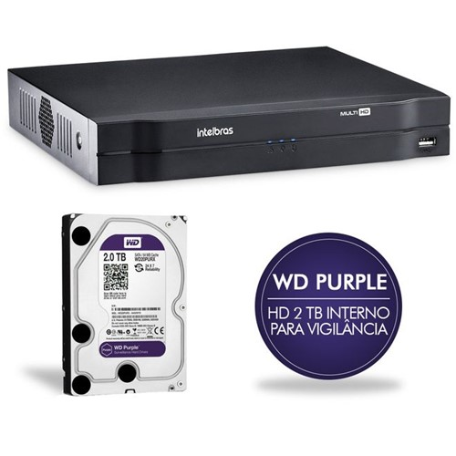 Gravador Digital de Vídeo 08 Canais MHDX com HD 2TB Multi-HD 1008 4580271/4580280 Intelbras