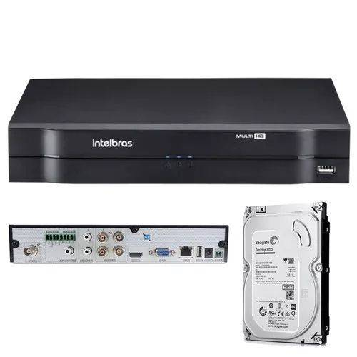 Gravador Digital de Vídeo Dvr Intelbras 1004mhdx C/ HD 500gb