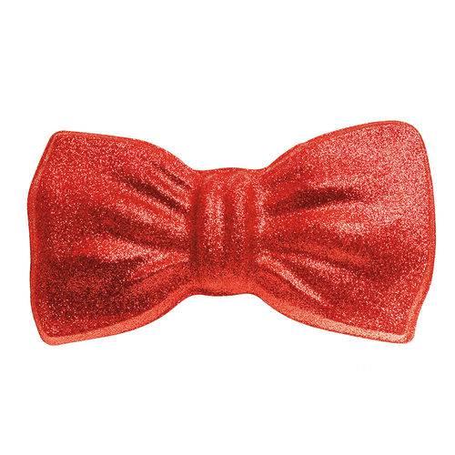 Gravata Borboleta com Glitter Carnaval Acessório Vermelho