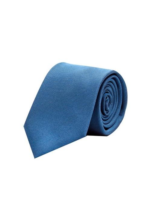 Gravata Jacquard de Seda Azul