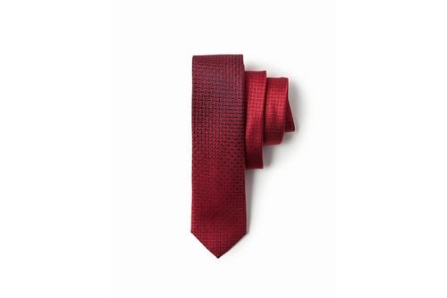 Gravata Jacquard Degradê Variado 6 Cm - Vermelho - UN