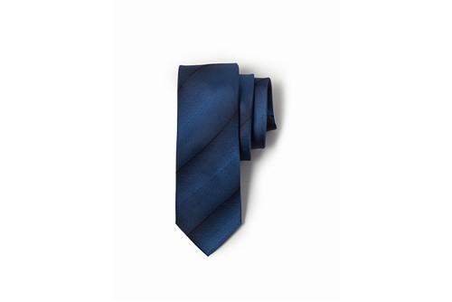 Gravata Jacquard Listras Diagonais - Azul - UN