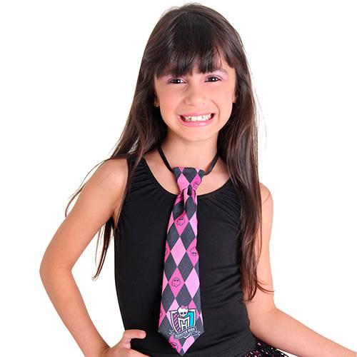 Gravata Monster High Rosa Sulamericana Fantasias