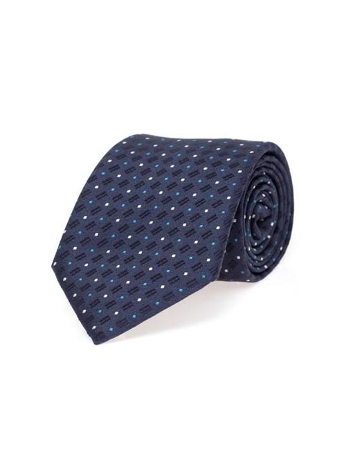 Gravata Poás de Seda Azul