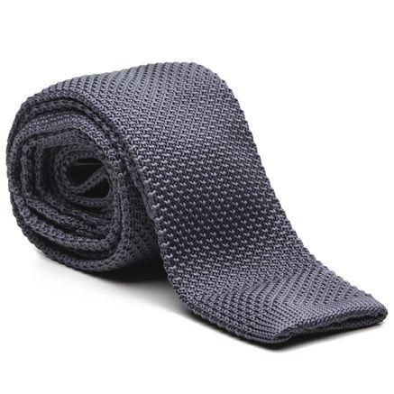 Gravata Key Design Tricot - Grey