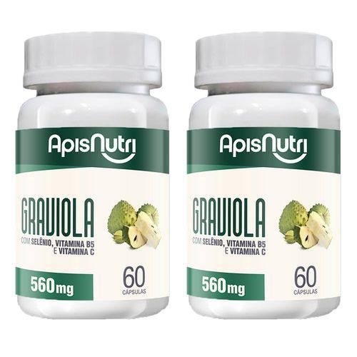 Graviola - 2 Un de 60 Cápsulas - Apisnutri
