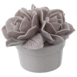 Grazzia Flor Adorno 4 Cm Cinza Provence/branco