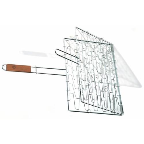 Grelha Flexível de Aço Inox com Cabo de Madeira 63,5CM - 23023