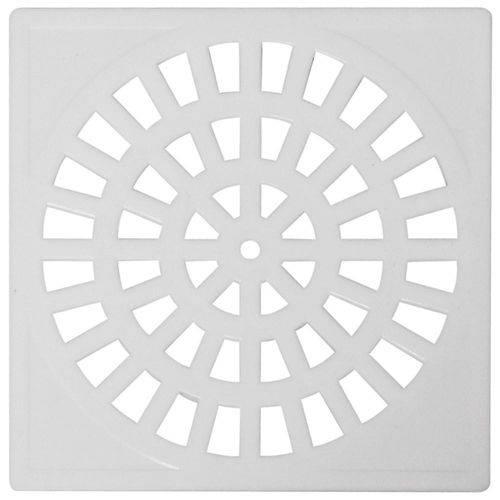 Grelha Plastica Quadrada Branca 10x10