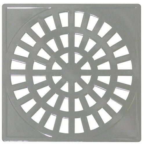 Grelha Plastica Quadrada Cromada 10x10