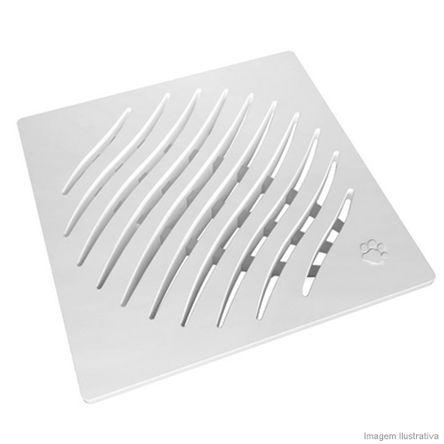 Grelha Quadrada Branca 150mm