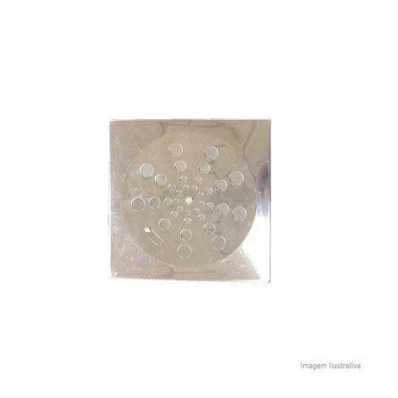 Grelha Quadrada com Caixilho 15x15cm com Fecho Aquainox Aquaplas