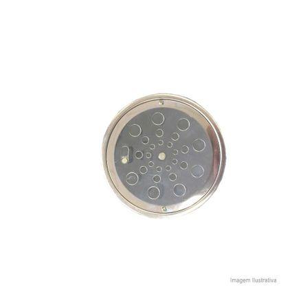 Grelha Redonda com Caixilho 10x10cm com Fecho Aquainox Aquaplas