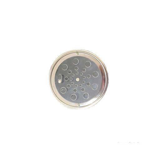 Grelha Redonda com Caixilho 15x15cm com Fecho Aquainox Aquaplas