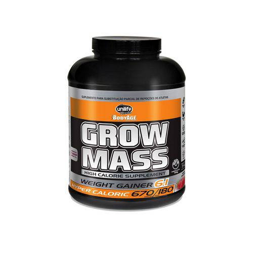 Grow Mass BodyAge Hipercalórico 6:1 Morango - Unilife - 3kg