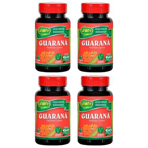 Guaraná (paunilha Cupana) - 4 Un de 60 Cápsulas - Unilife
