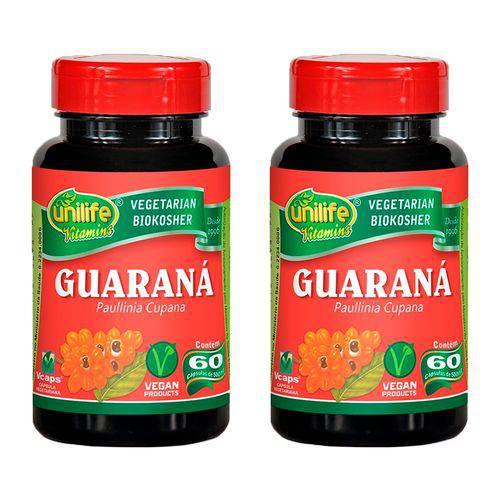 Guaraná (paunilha Cupana) - 2 Un de 60 Cápsulas - Unilife