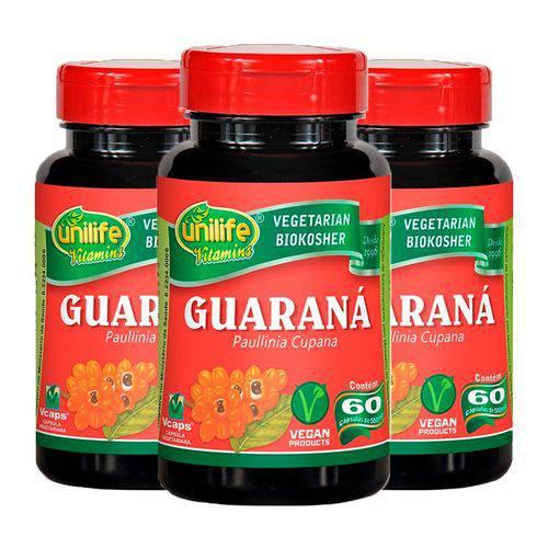 Guaraná (paunilha Cupana) - 3 Un de 60 Cápsulas - Unilife