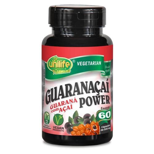 Guarana Power 60 Capsulas 500 Mg - Unilife