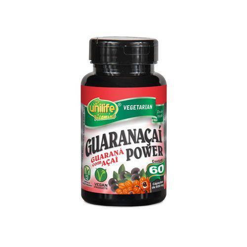 Guaranaçaí Power 500mg Guaraná + Açaí - Unilife - 60 Cápsulas