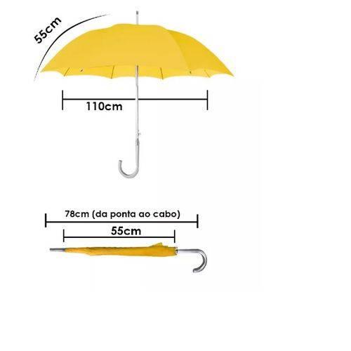 Guarda Chuva Colorido Automático Tamanho Infantil Amarelo