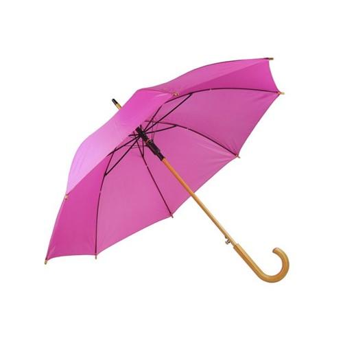 Guarda Chuva Rosa para Sublimação - Cabo em Madeira Unidade